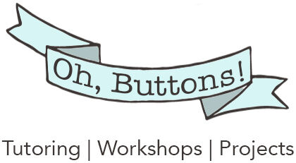 Oh, Buttons! Tutoring company logo
